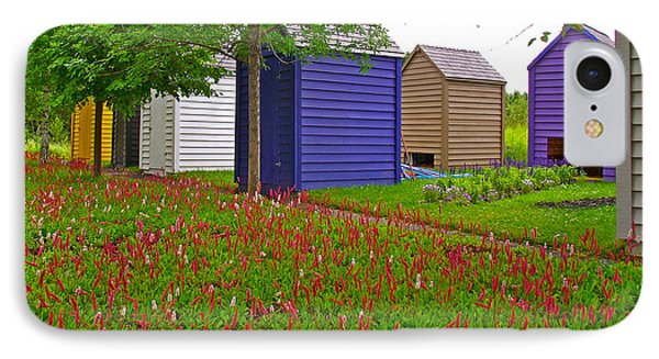 Every Garden Needs A Shed And Lawn In Les Jardins De Metis/reford Gardens-qc Phone Case by Ruth Hager