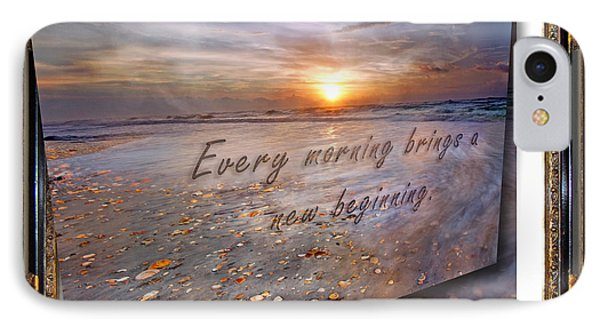 Every Morning Brings A New Beginning II IPhone Case by Betsy Knapp