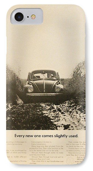 Every New One Comes Slightly Used - Vintage Volkswagen Advert IPhone Case by Georgia Fowler