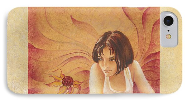 Everyday Angel With Flower IPhone Case