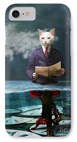 Everything Is A Matter Of Time Phone Case by Martine Roch