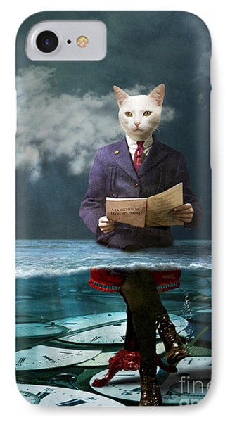 Everything Is A Matter Of Time IPhone Case by Martine Roch
