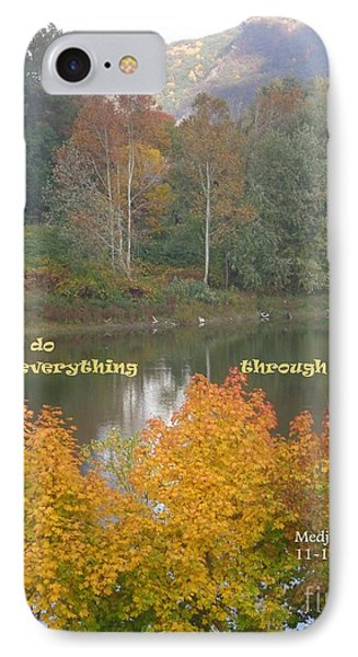 Everything With Prayer IPhone Case by Christina Verdgeline