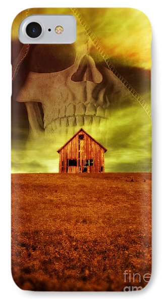 Evil Dwells In The Haunted House On The Hill IPhone Case
