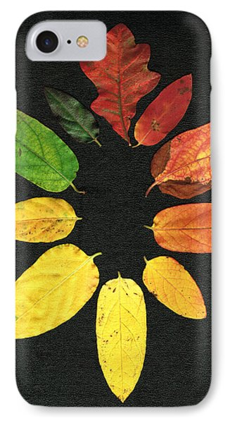 IPhone Case featuring the digital art Evolution Of Autumn Bk by Pete Trenholm