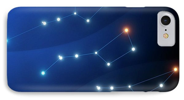 Evolution Of The Big Dipper Asterism IPhone Case by Mark Garlick