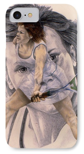 Evonne Goolagong Cawley IPhone Case by Phil Welsher