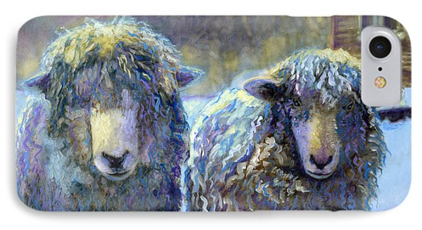 Ewe And Me 2 IPhone Case by Cindy McIntyre