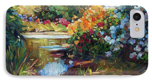 Exbury Spring Lake IPhone Case by David Lloyd Glover