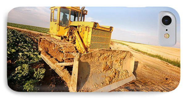 Excavator Working Phone Case by Michal Bednarek