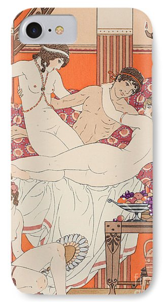 Excess Of Wine And Women IPhone Case by Joseph Kuhn-Regnier