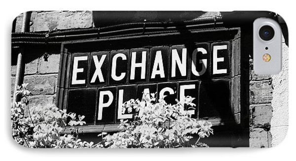 exchange place old Belfast city street names in cathedral quarter Northern Ireland UK IPhone Case by Joe Fox