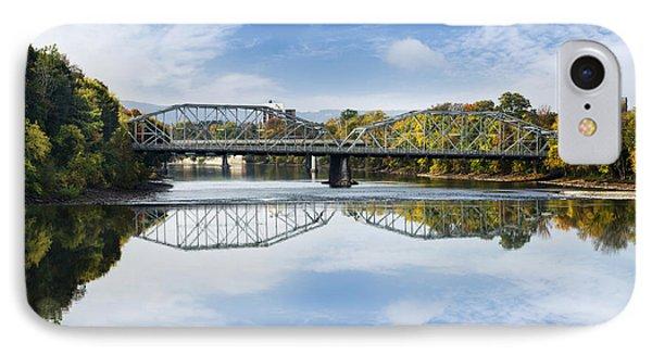 IPhone Case featuring the photograph Exchange St. Bridge Rock Bottom Dam Binghamton Ny by Christina Rollo