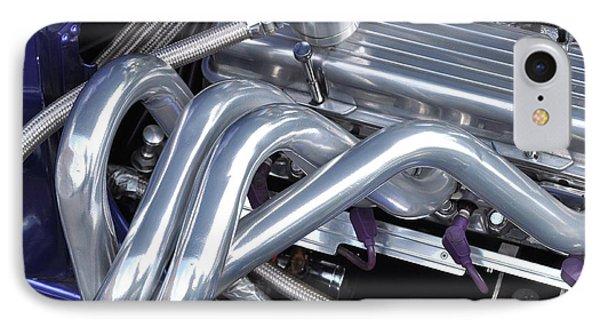 Exhaust Manifold Hot Rod Engine Bay Phone Case by Allen Beatty