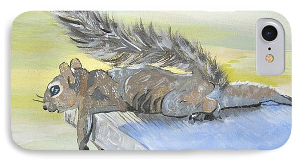 Exhausted Little Nevada Squirrel Phone Case by Phyllis Kaltenbach