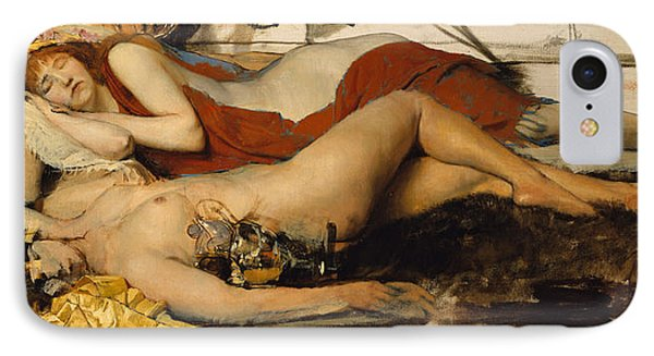 Exhausted Maenides Phone Case by Sir Lawrence Alma Tadema