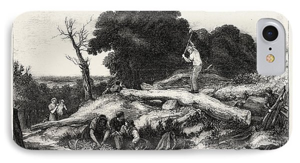 Exhibition Of The British Institution Chips IPhone Case by Linnell, John (1792-1882), English