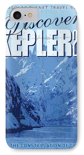 Exoplanet 02 Travel Poster Kepler 22b IPhone Case by Chungkong Art
