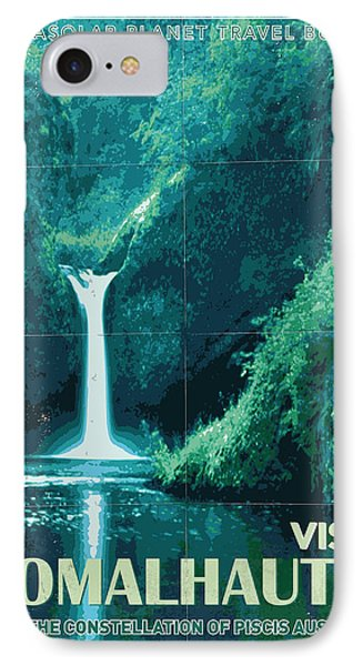 Exoplanet 04 Travel Poster Fomalhaut B IPhone Case by Chungkong Art