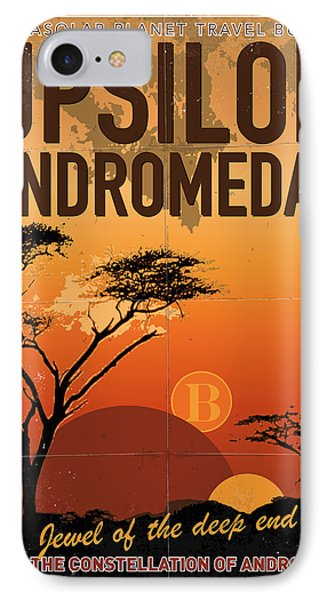 Exoplanet 06 Travel Poster Upsilon Andromedae 4 IPhone Case