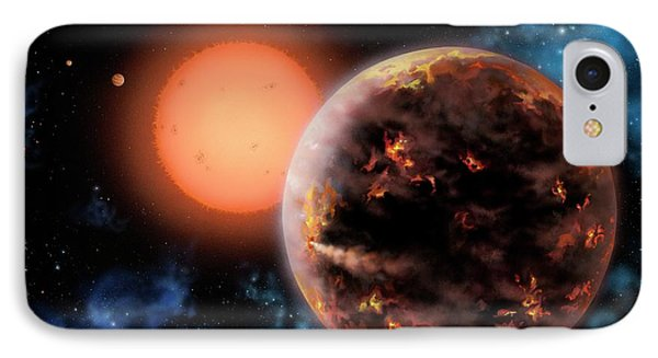 Exoplanet Gliese 876 D IPhone Case by Lynette Cook