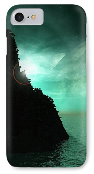 Exoplanet Landscape IPhone Case by Mikkel Juul Jensen