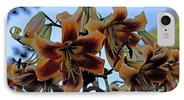 Exotic Lilies IPhone Case by Yumi Johnson