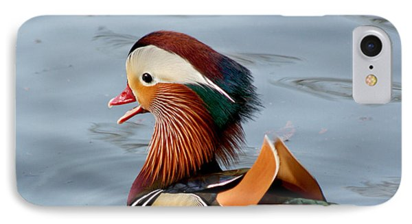 IPhone Case featuring the photograph Exotic Mandarin Duck by Bob and Jan Shriner