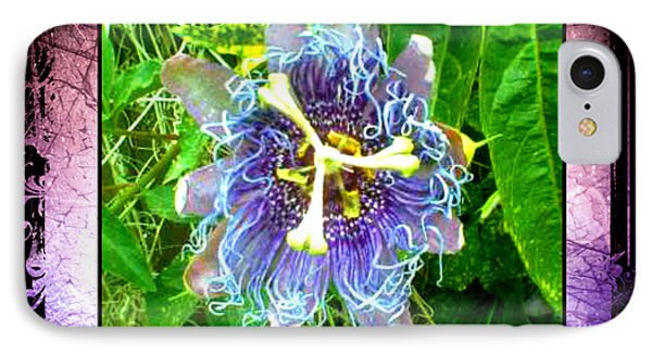 Exotic Strange Flower IPhone Case by Absinthe Art By Michelle LeAnn Scott