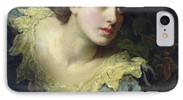 Expectation Oil On Canvas IPhone Case by John Rogers Herbert