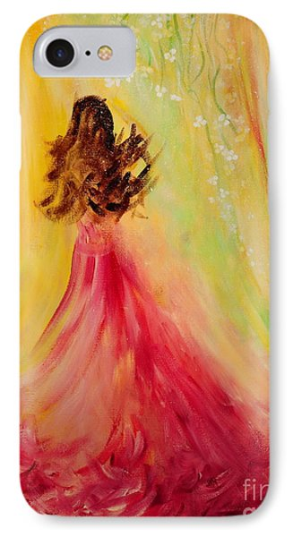 IPhone Case featuring the painting Expecting by Teresa Wegrzyn