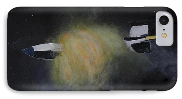 Exploding Rocket Position 3 IPhone Case