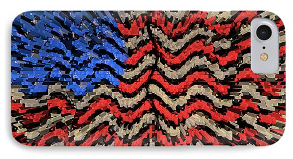 Exploding With Patriotism Phone Case by John Farnan