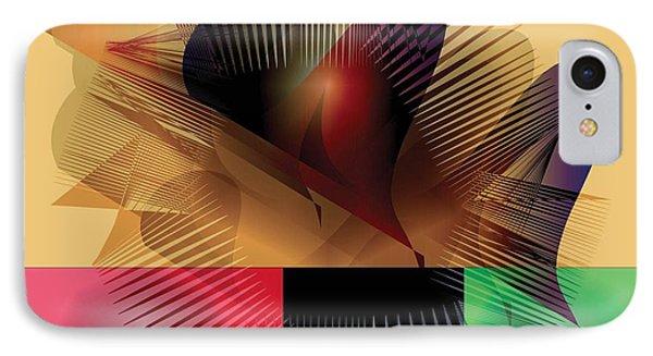 IPhone Case featuring the digital art Explosion 2 by Iris Gelbart