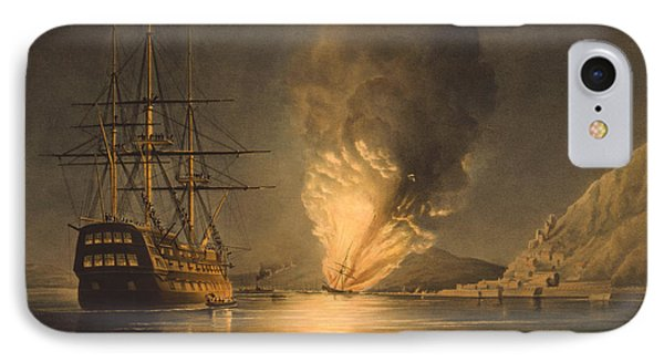 Explosion Of The Uss Steam Frigate Missouri Phone Case by War Is Hell Store