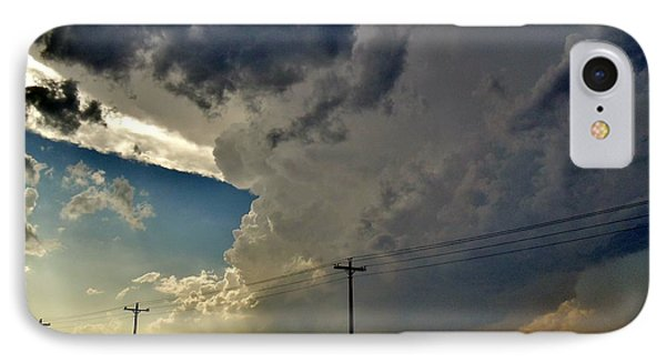 IPhone Case featuring the photograph Explosive Texas Supercell by Ed Sweeney