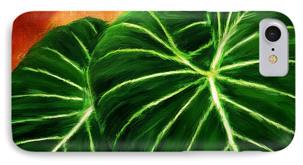Exquisite Collection- Philodendron Gloriosum IPhone Case by Lourry Legarde