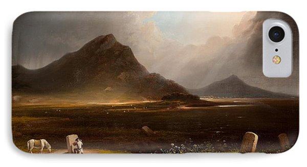 Extensive Landscape With Stonemason Phone Case by Daniel M. Mackenzie
