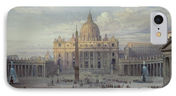 Exterior Of St Peters In Rome From The Piazza IPhone Case