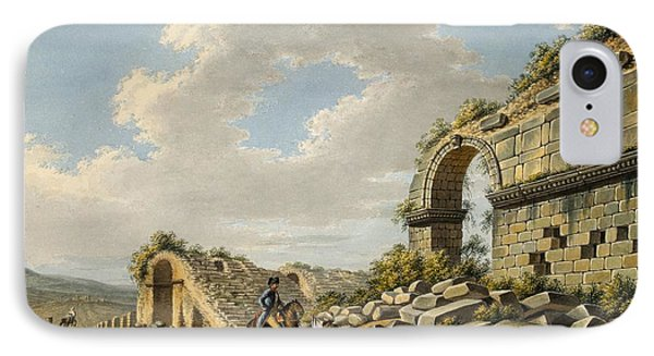 Exterior Of The Ruined Roman Theatre IPhone Case by Gaetano Mercati