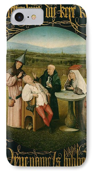Extracting The Stone Of Madness IPhone Case by Hieronymus Bosch