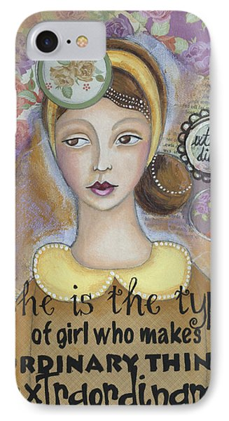 IPhone Case featuring the mixed media Extraordinary Inspirational Art by Stanka Vukelic