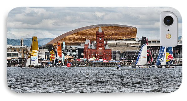 Extreme 40 At Cardiff Bay IPhone Case by Steve Purnell