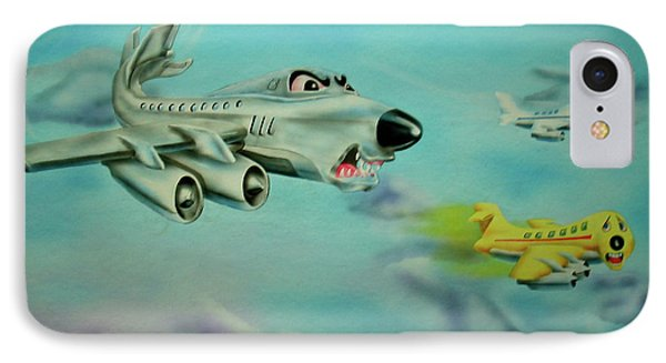 IPhone Case featuring the painting Extreme Airline Mergers by Thomas J Herring