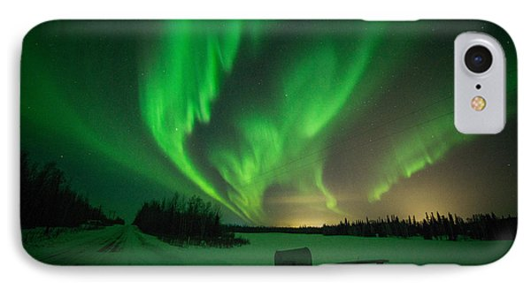 Extreme Aurora Activity Salcha IPhone Case