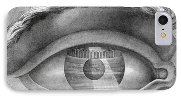 Eye Enclosing The Theatre At Besancon France Phone Case by Claude Nicolas Ledoux