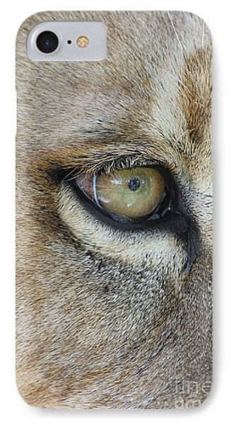 IPhone Case featuring the photograph Eye Of The Lion by Judy Whitton