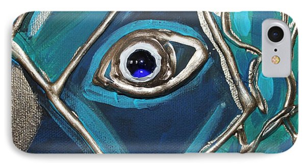 Eye Of The Peacock IPhone Case by Cynthia Snyder