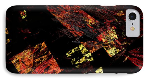 Eye Of The Storm 4 - Flying Debris - Abstract - Fractal Art Phone Case by Andee Design