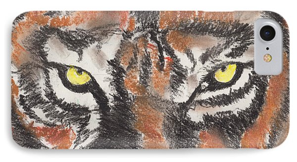 Eye Of The Tiger IPhone Case by David Jackson